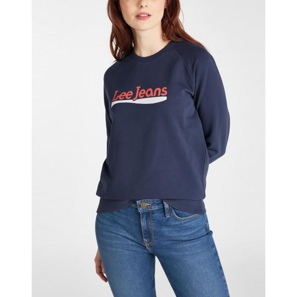 Sudadera Lee azul. Logo Lee jeans - 1