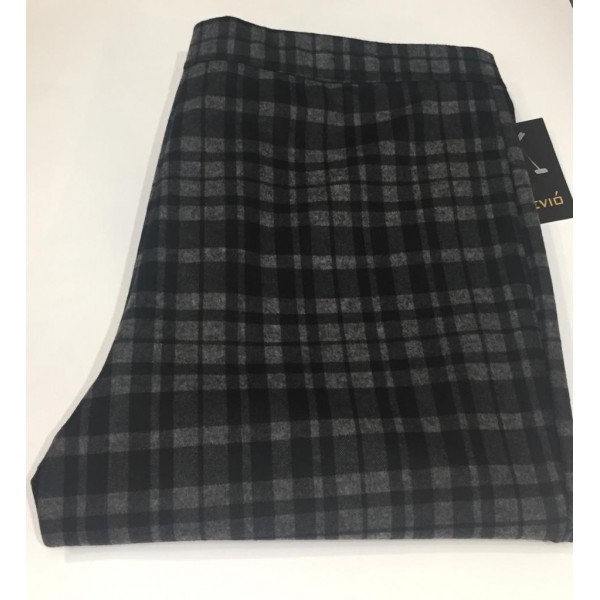 Pantalón D´jano cuadro pequeño en colores negro y gris - 1