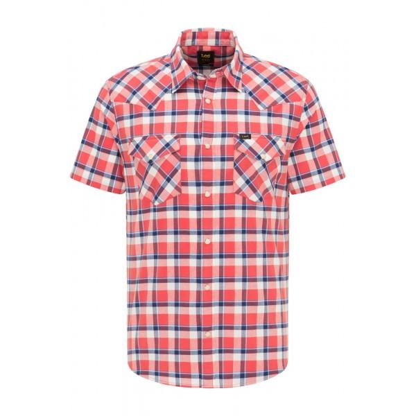 Camisa m/c Lee, con dos bolsillos y corchetes. Ss Western Aurora Red. - 1