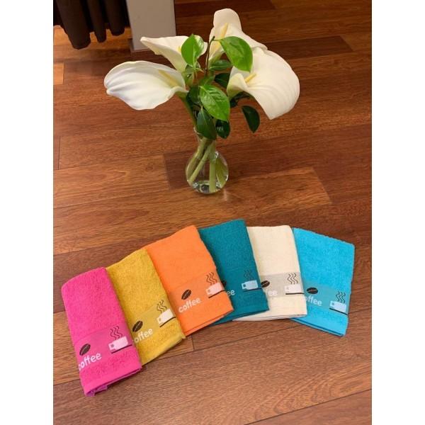 Estuche de 6 Paños cocina Coffee colores de Textil As Burgas - 1