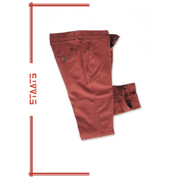 Pantalón chino joven elástico en colores de Staats.  - 1