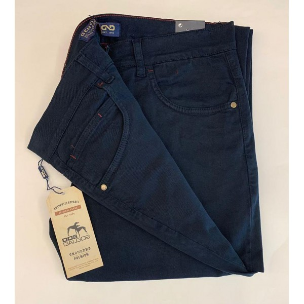 Pantalón algodón 5 bolsillos elástico Gendive en negro - 1