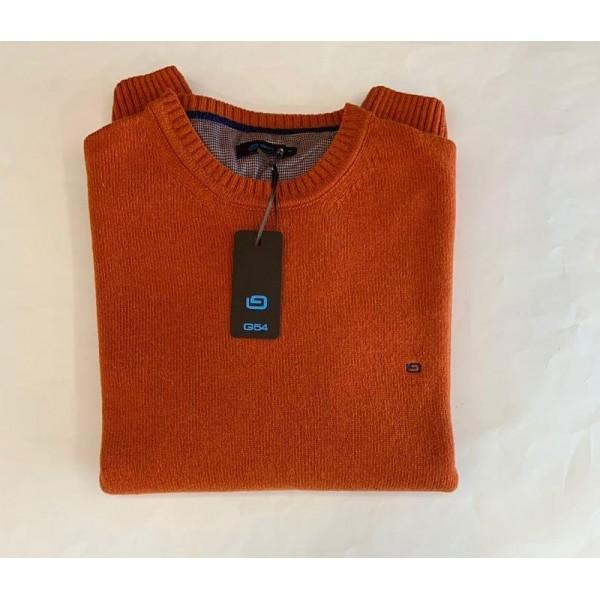 Jersey punto liso, cuello redondo, de G54, en colores - 3