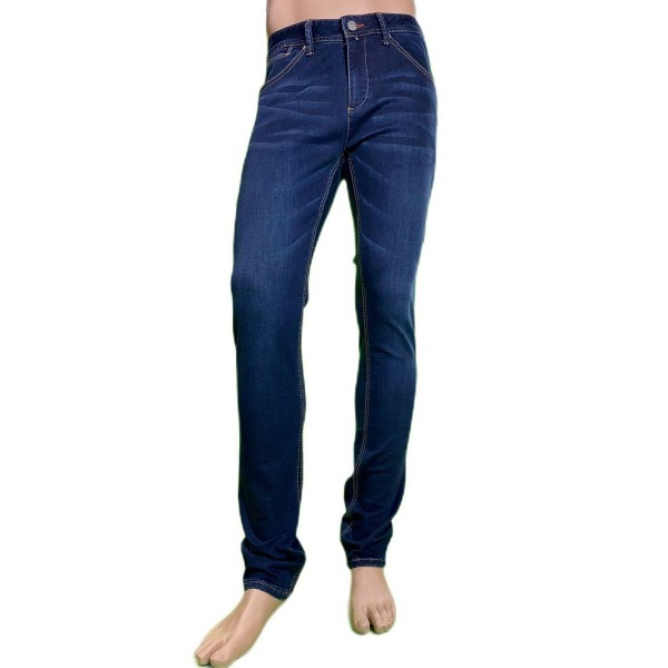 Pantalón vaquero juvenil elástico, color azul lavado, Matrix de BX jeans. - 1