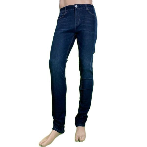 Pantalón vaquero juvenil elástico, color azul oscuro lavado, Matrix Bodytemp de BX jeans. - 1