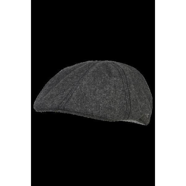 Gorra plana Flat cap en color gris con mini cuadro Camel Active - 1