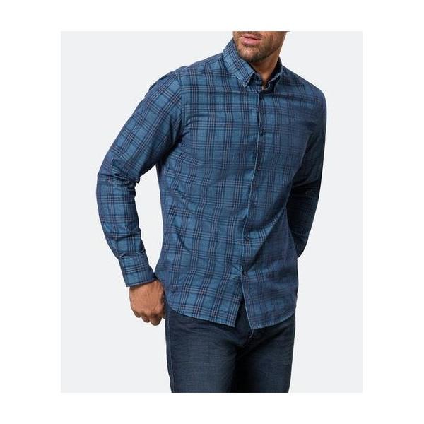 Camisa manga larga panilla de cuadros de Pierre Cardin - 1