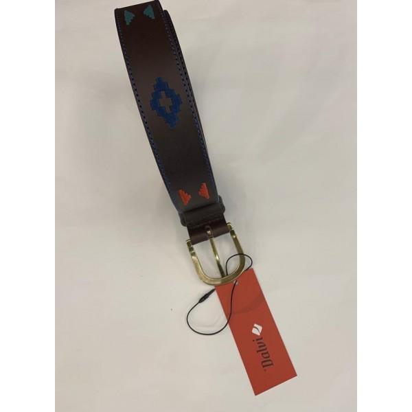 Cinturón piel sax bordado azteca 35mm  de Denver  - 1